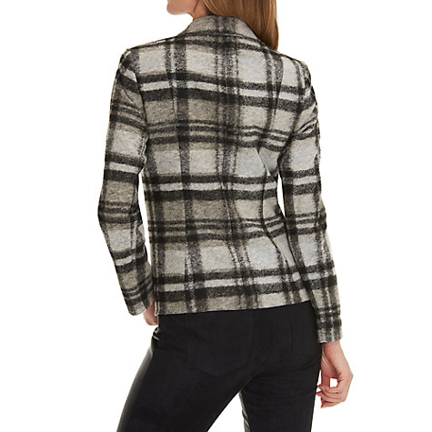 Buy Betty Barclay Tailored Check Blazer, Black/Beige Online at johnlewis.com