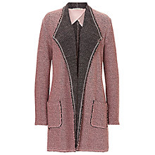 Buy Betty Barclay Textured Waterfall Cardigan, Iced Rose Online at johnlewis.com