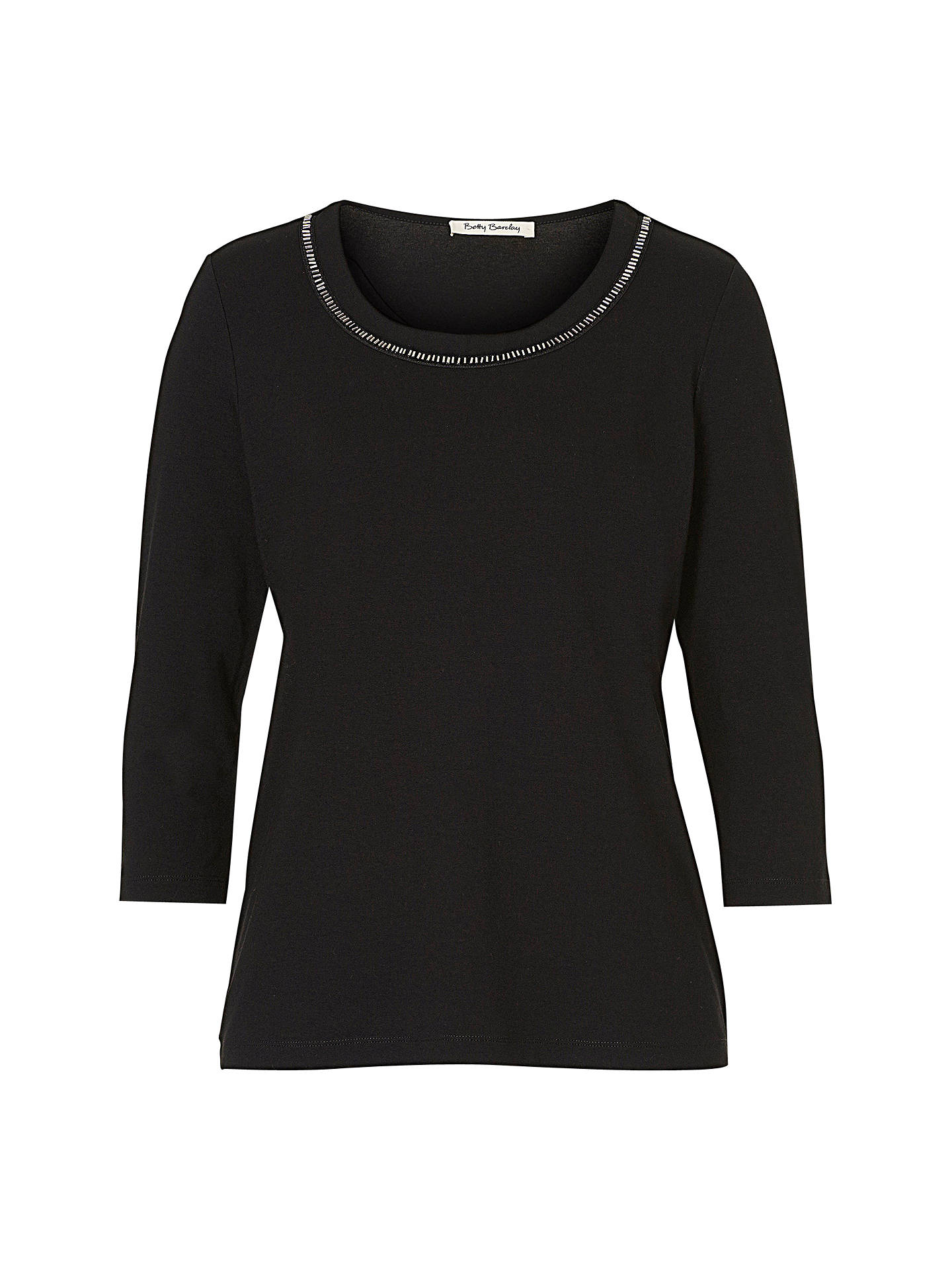 BuyBetty Barclay Embellished T-Shirt, Black, 8 Online at johnlewis.com