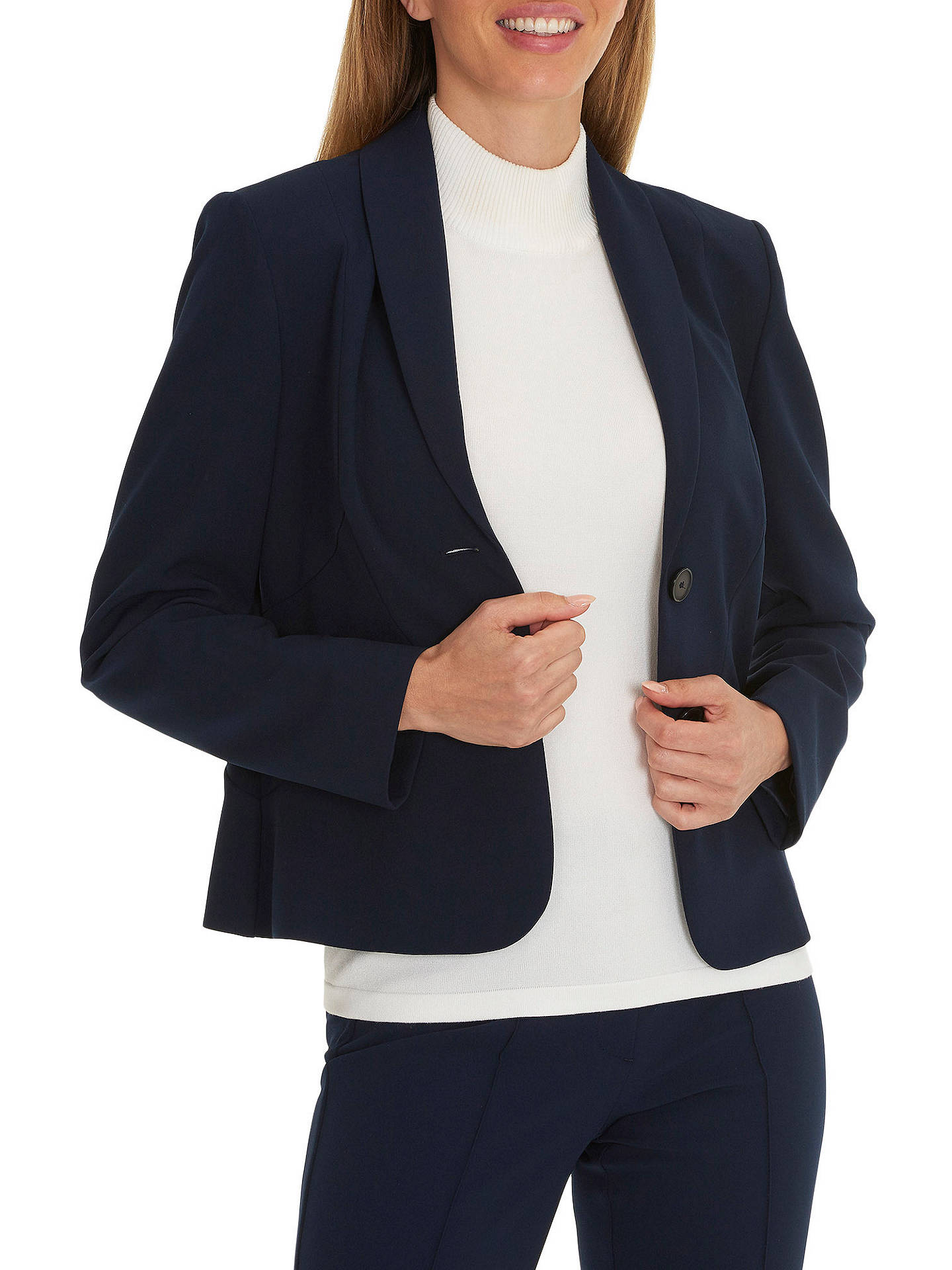 BuyBetty Barclay Tailored Short Blazer, Dark Sky, 8 Online at johnlewis.com
