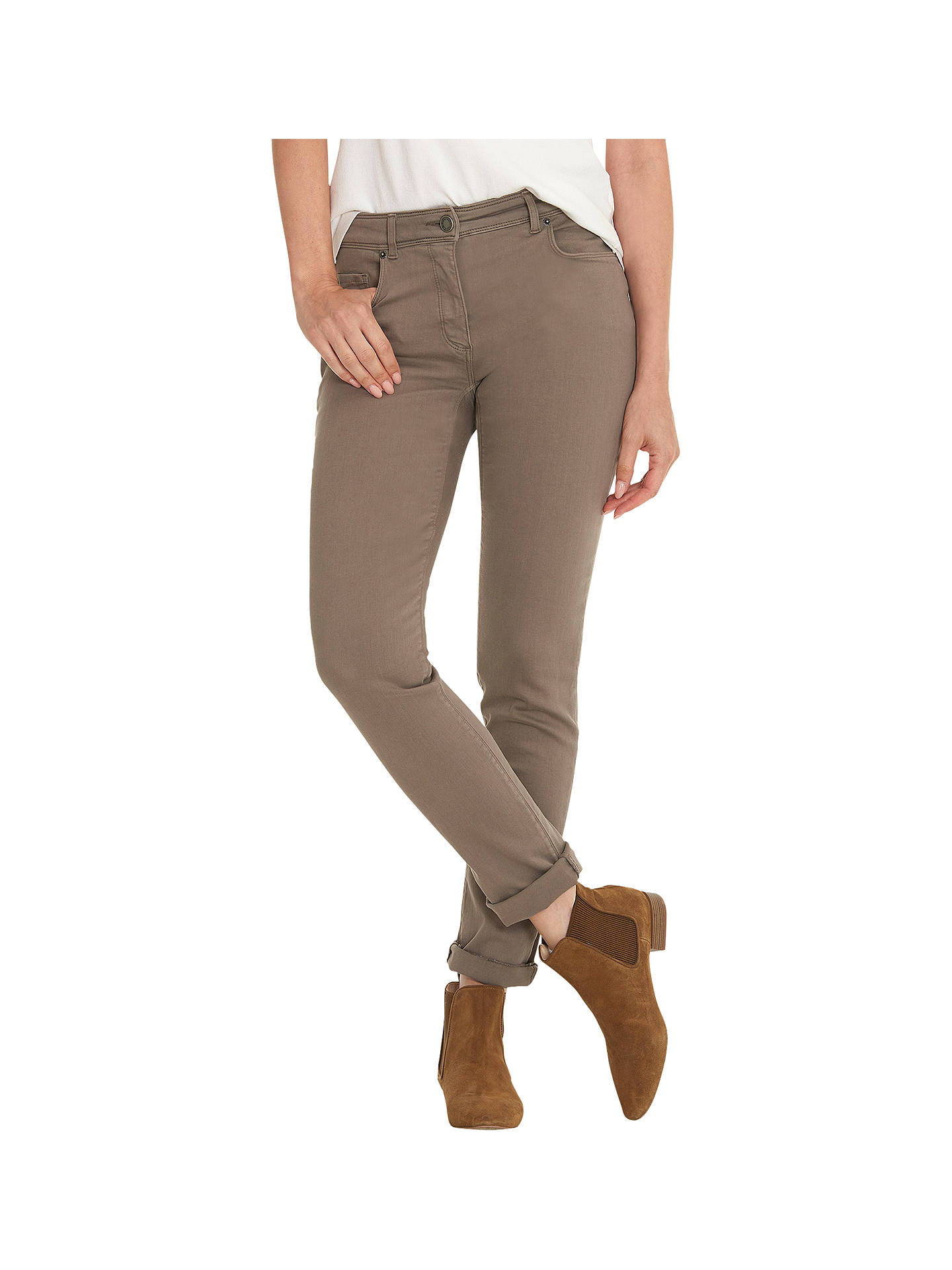 Buy Betty Barclay Perfect Slim Jeans, Slate Taupe, 8 Online at johnlewis.com