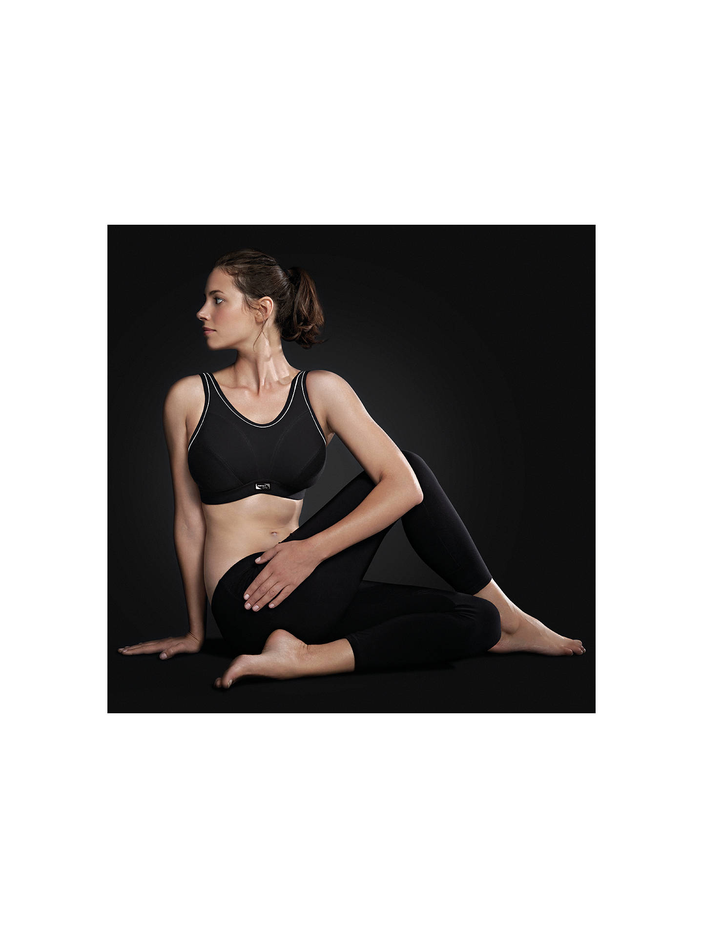 BuyRoyce Impact Free Non Wired Sports Bra, Black, 32D Online at johnlewis.com