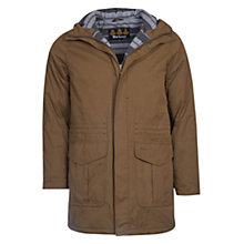 Buy Barbour Bay Water-Resistant Parka Jacket, Dark Sand Online at johnlewis.com