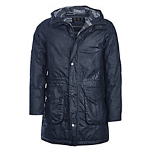 Buy Barbour Pendle Wax Cotton Jacket, Navy Online at johnlewis.com