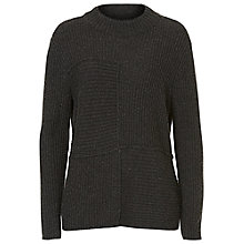 Buy Betty Barclay Ribbed Crew Neck Jumper, Anthracite Melange Online at johnlewis.com