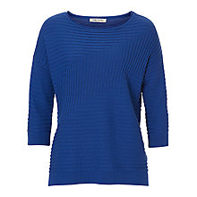 Buy Betty Barclay Chevron Ribbed Jumper, Blue Adria Online at johnlewis.com