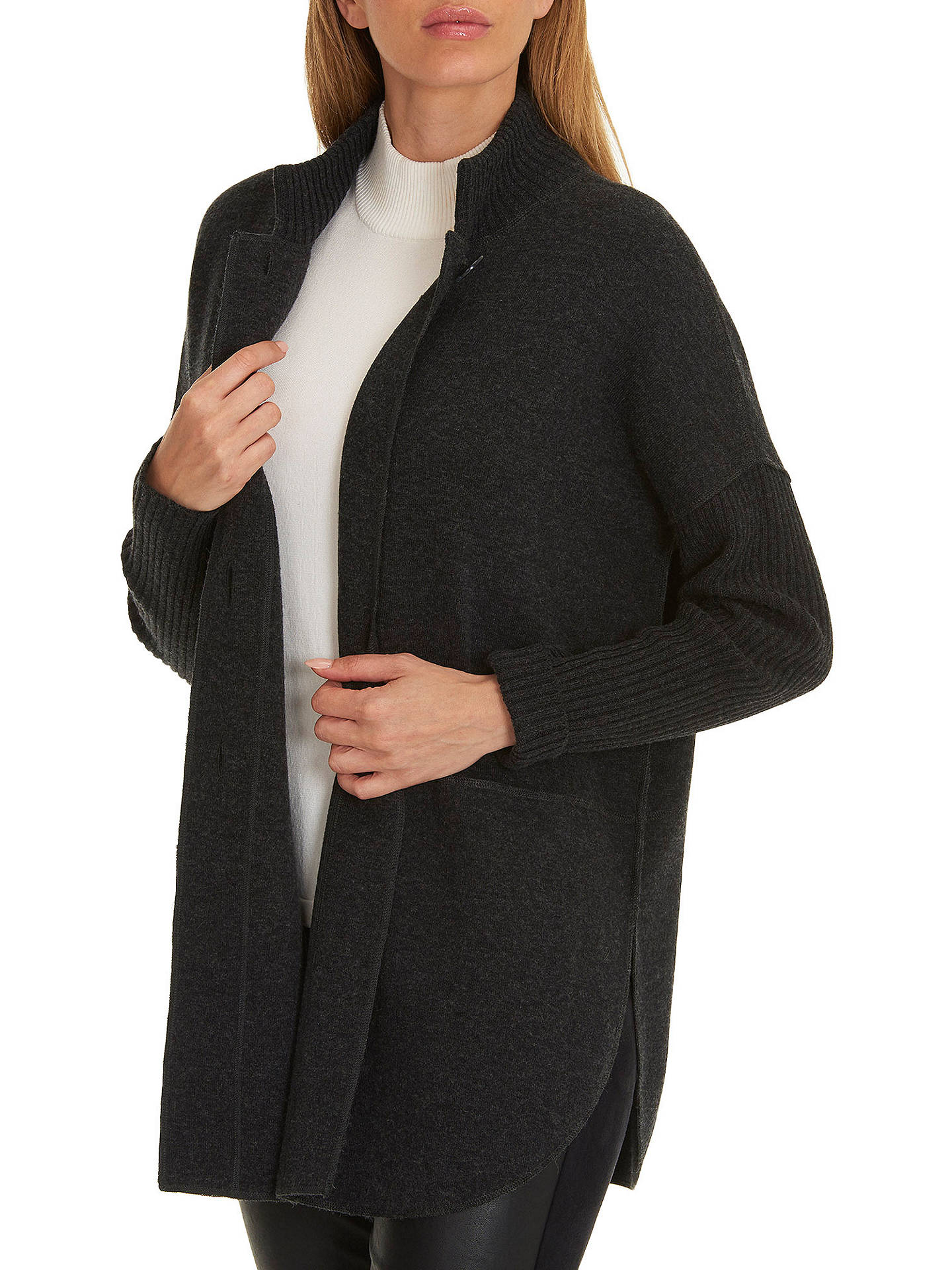 Buy Betty Barclay Long Knitted Cardigan, Anthracite Melange, 8 Online at johnlewis.com