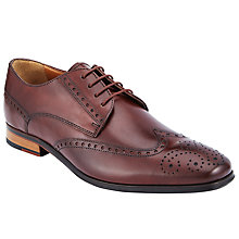 Buy John Lewis Brosnan Leather Lace-Up Brogues, Rosewood Online at johnlewis.com