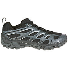 Buy Merrell Moab Edge Men's Walking Shoes, Black/Grey Online at johnlewis.com