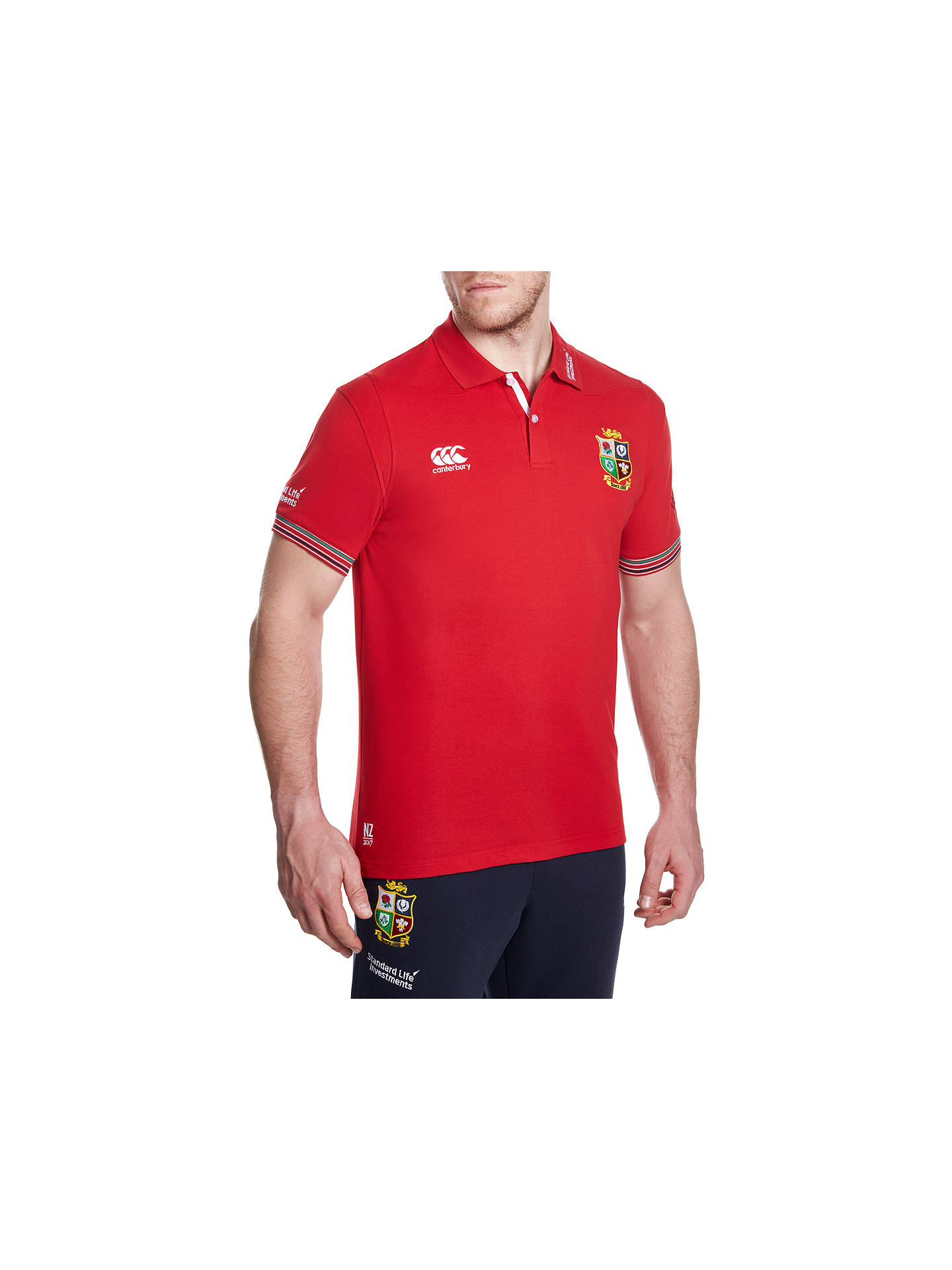 18cc945f5ad Buy Canterbury of New Zealand British and Irish Lions Rugby Polo Shirt,  Red, S ...