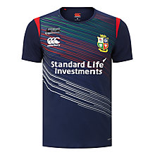 Buy Canterbury of New Zealand British and Irish Lions Superlight Warm Up T-Shirt, Blue Online at johnlewis.com