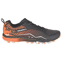 Buy Merrell All Out Crush Tough Mudder Men's Trail Running Shoes, Black/Orange Online at johnlewis.com