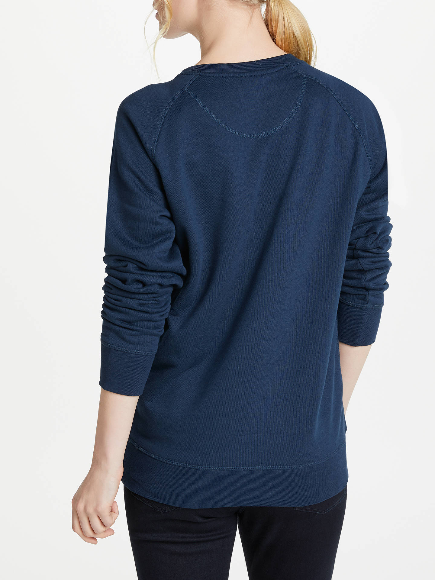 BuySelfish Mother Mama Crew Neck Sweatshirt, Navy/Silver, S Online at johnlewis.com