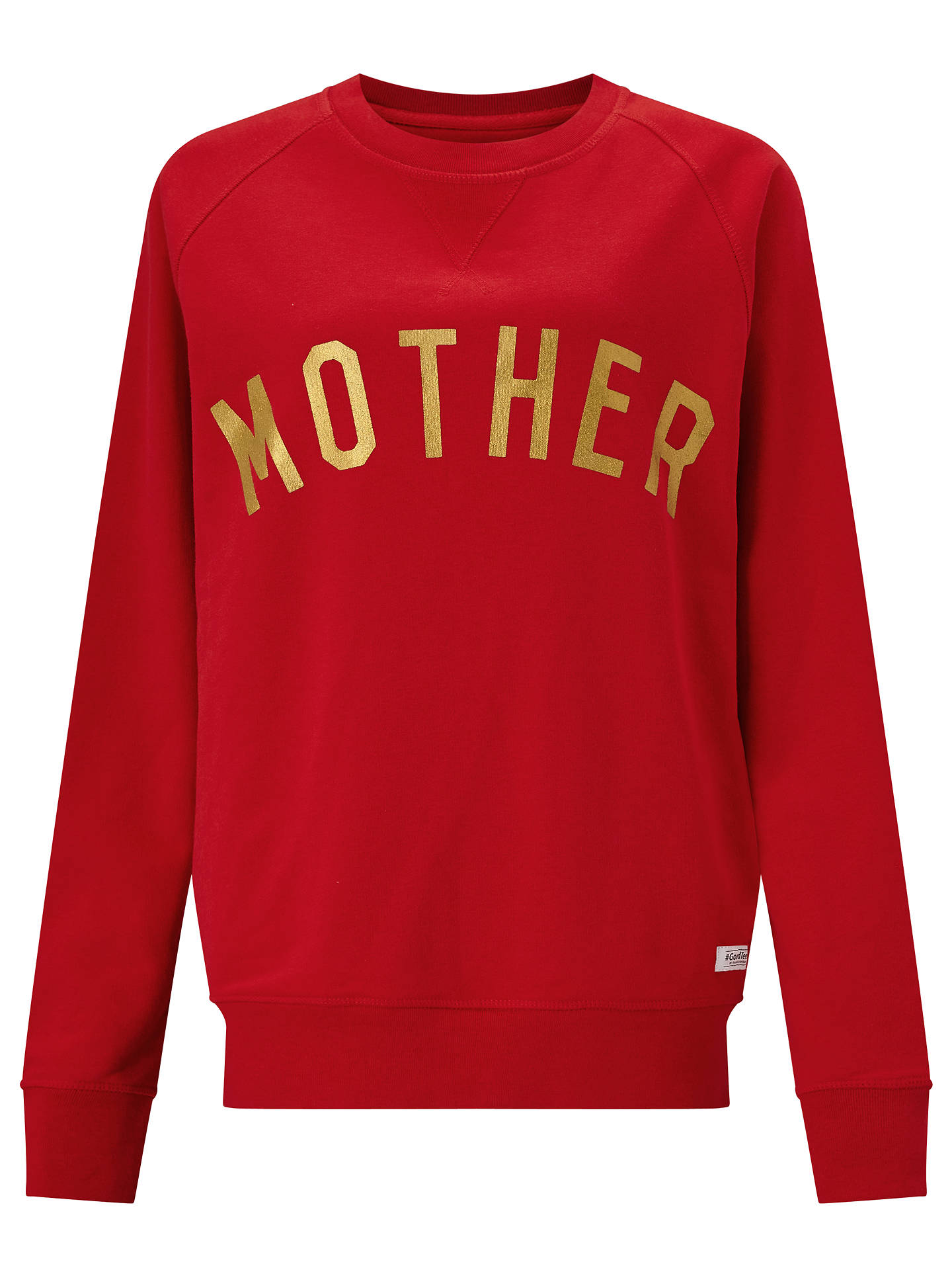 BuySelfish Mother Mother Crew Neck Sweatshirt, Red/Gold, S Online at johnlewis.com