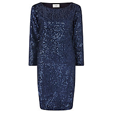 Buy Minimum Diona Sequin Dress, Iris Navy Online at johnlewis.com