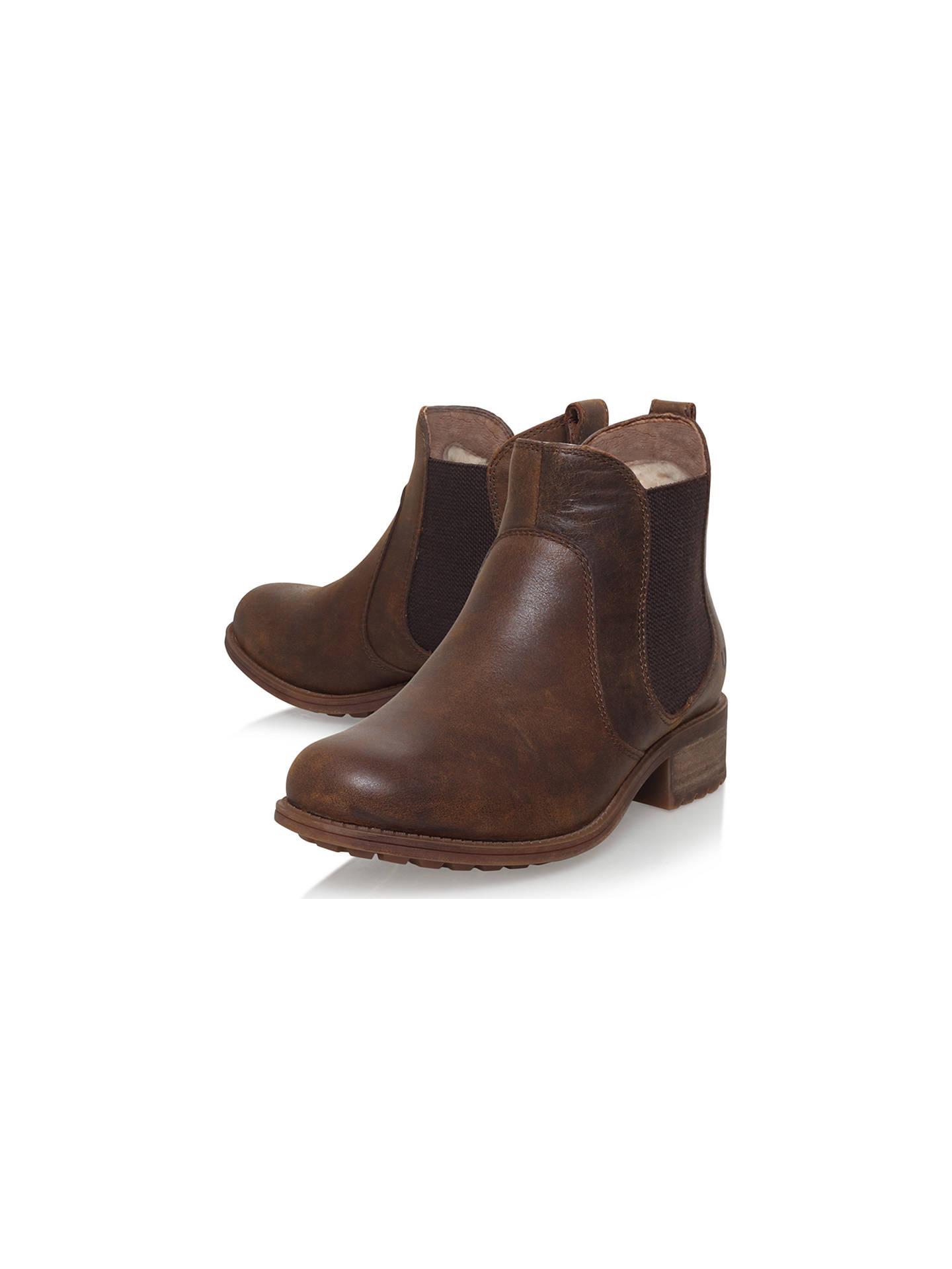 ca81b2a35fd UGG Bonham Block Heeled Ankle Boots, Dark Brown at John Lewis & Partners