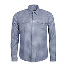 Buy Barbour Shincliffe Tailored Fit Check Shirt, Navy Online at johnlewis.com