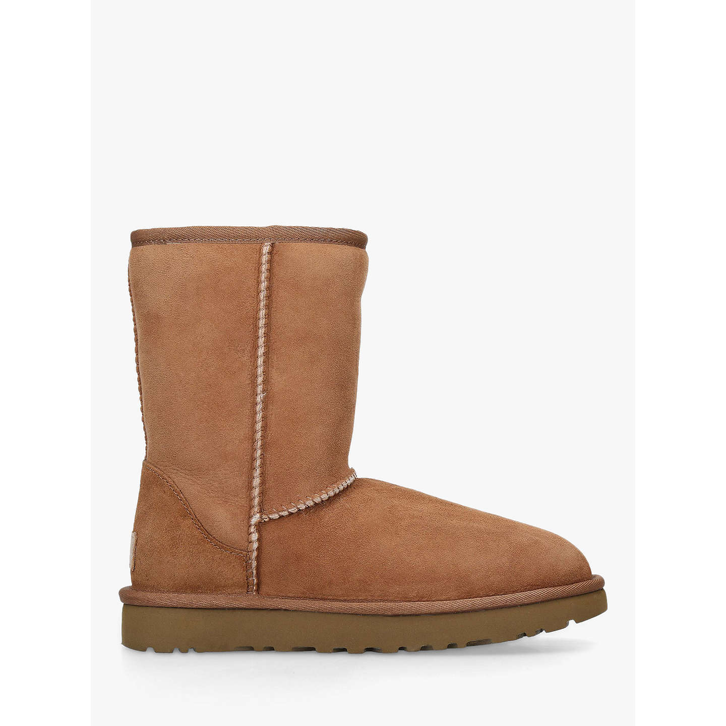 BuyUGG Classic II Short Sheepskin Ankle Boots, Chestnut, 6 Online at  johnlewis.com ...