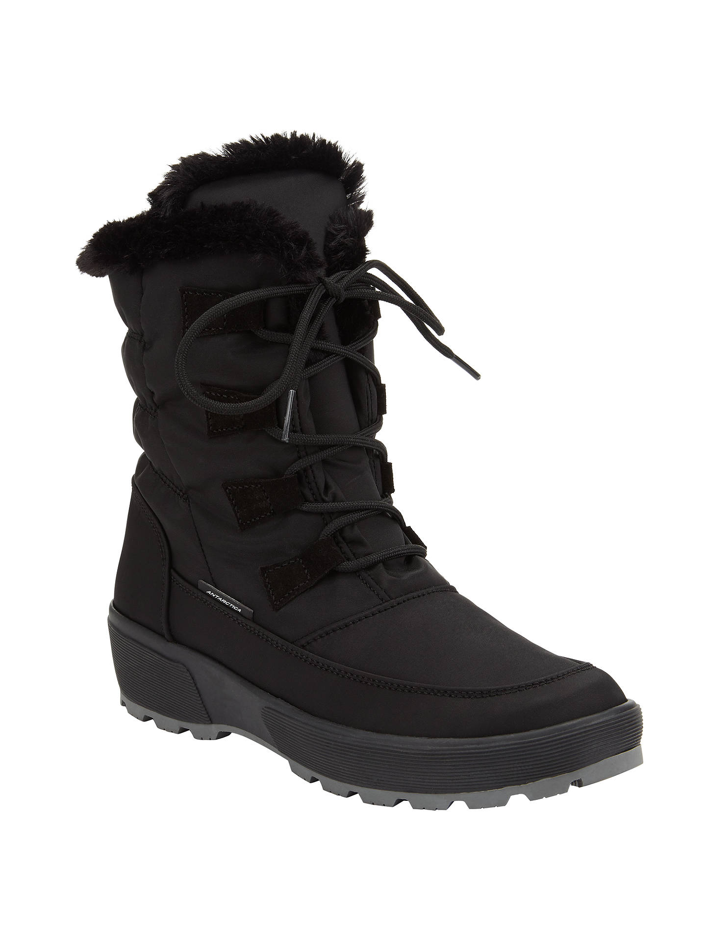 762e659e214 John Lewis Antarctica Water Repellent Snow Boots, Black at John ...