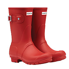 Buy Hunter Women's Original Short Matte Wellington Boots, Military Red Online at johnlewis.com