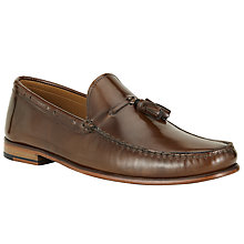Buy John Lewis Lloyd Tassel Penny Loafers, Cognac Online at johnlewis.com