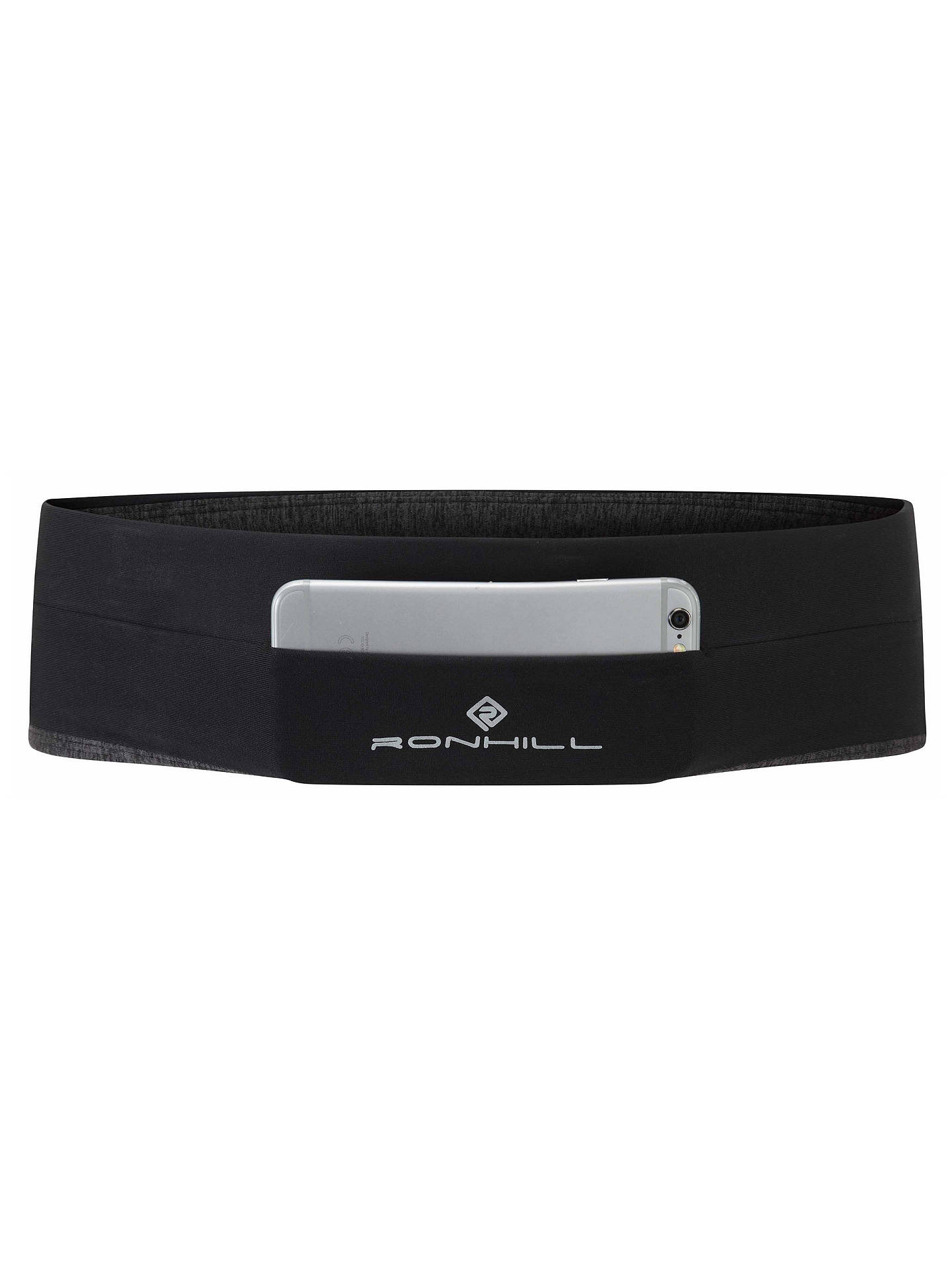 BuyRonhill Running Stretch Waistpocket, Black/Charcoal, S/M Online at johnlewis.com