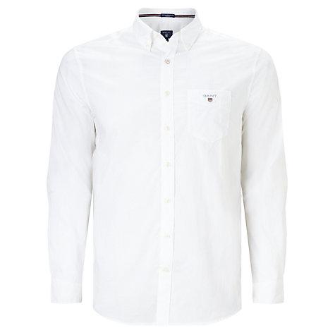 Buy GANT Plain Broadcloth Regular Button Down Shirt   John Lewis