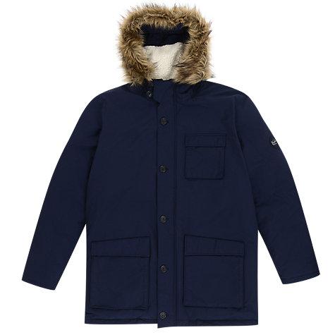 Buy Original Penguin Insulated Dry Wax Parka Jacket Dark Sapphire