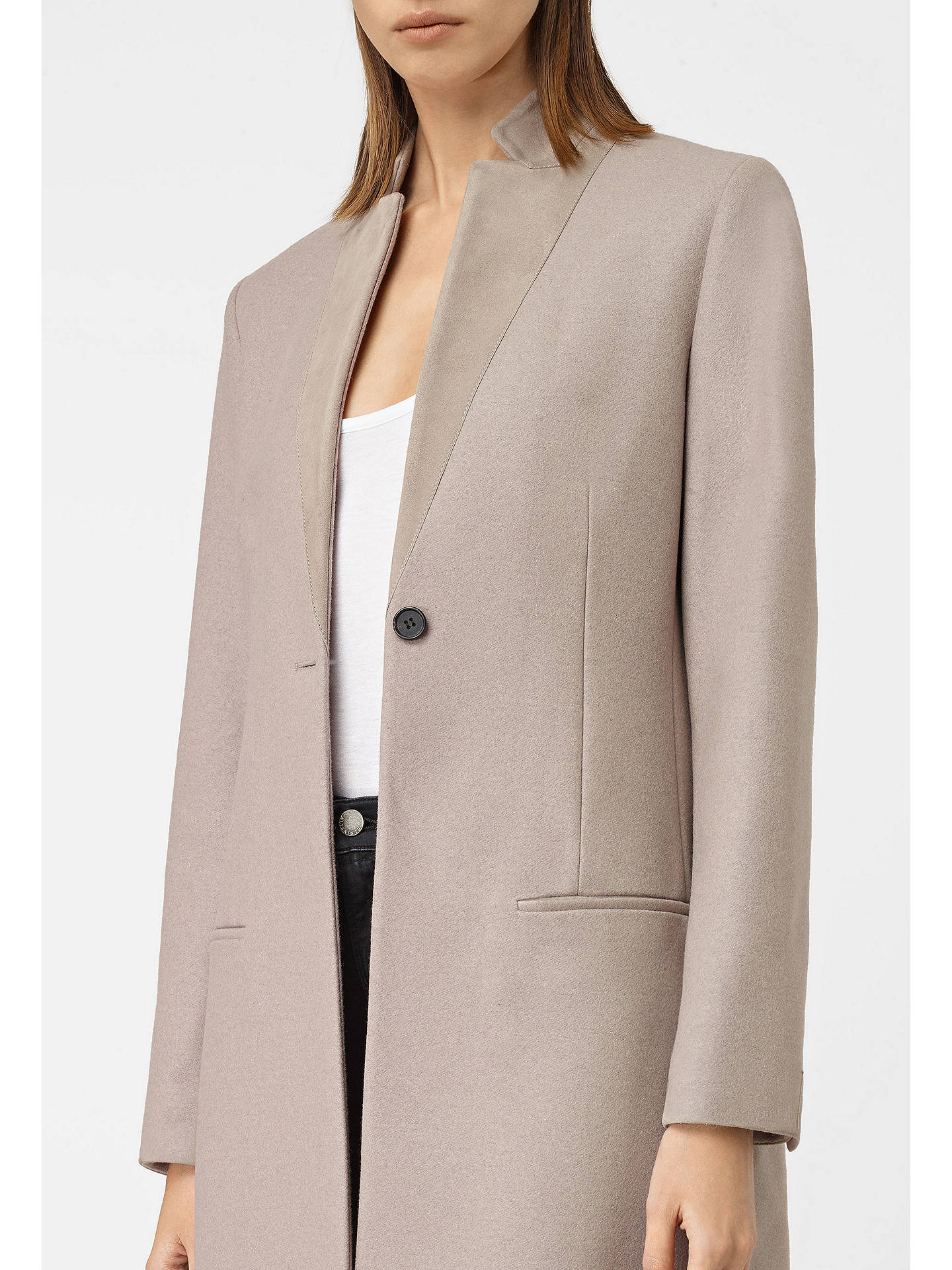 AllSaints Leni Coat at John Lewis & Partners