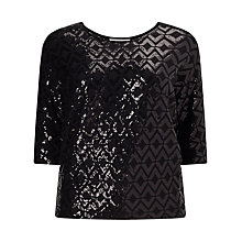 Buy Studio 8 Tabitha Top, Black Online at johnlewis.com
