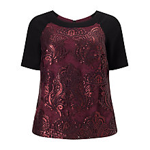 Buy Studio 8 Kimmy Lace Top, Black/Red Online at johnlewis.com