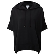Buy Pure Collection Houston Hooded Poncho, Black Online at johnlewis.com