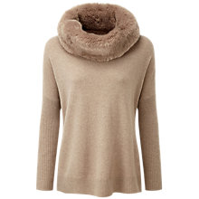 Buy Pure Collection Brooks Cashmere Poncho, Grey Camel Online at johnlewis.com