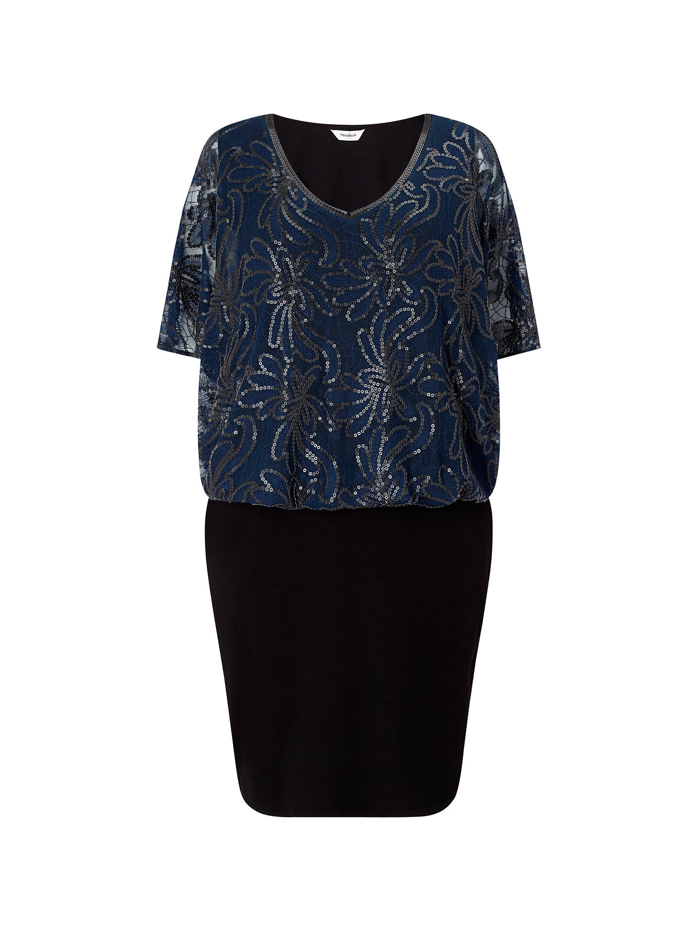 BuyStudio 8 Roselle Dress, Navy/Black, 12 Online at johnlewis.com