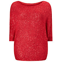 Buy Studio 8 Shawna Sequin Jumper, Red Online at johnlewis.com