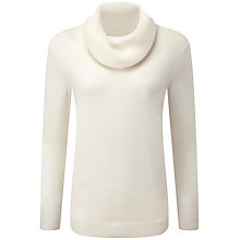 Buy Pure Collection Joy Cowl Neck Jumper, Soft White Online at johnlewis.com