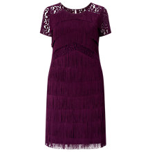 Buy Studio 8 Kylie Fringe Dress, Burgundy Online at johnlewis.com