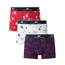 Buy Joules Crown Joules Great Ride Trunks, Pack of 3, Navy/White/Red Online at johnlewis.com
