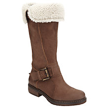 Buy John Lewis Theodora Knee High Boots, Brown Online at johnlewis.com