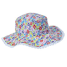 Buy John Lewis Children's Reversible Ciara Floral and Stripe Sun Hat, Multi Online at johnlewis.com