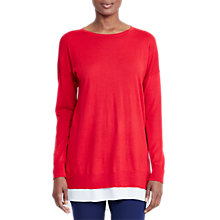 Buy Lauren Ralph Lauren Balzara Layered Jumper, Brilliant Red Online at johnlewis.com
