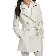 Buy Lauren Ralph Lauren Double-Breasted Coat, Stone Online at johnlewis.com