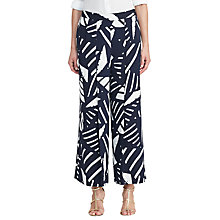 Buy Lauren Ralph Lauren Frigatta Printed Trousers, Navy/Antique Ivory Online at johnlewis.com