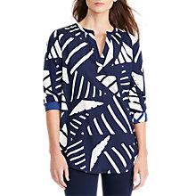 Buy Lauren Ralph Lauren Marlen Printed Tunic Top, Navy/Antique Ivory Online at johnlewis.com