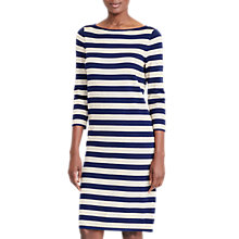 Buy Lauren Ralph Lauren Stripe Metallic Dress, Navy/Gold Online at johnlewis.com