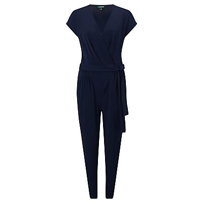 Lauren Ralph Lauren Wrap-Over Jumpsuit, Navy