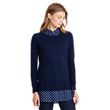 Buy Lauren Ralph Lauren Dejanne Woven Tunic Jumper, Navy Online at johnlewis.com