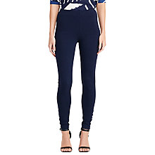 Buy Lauren Ralph Lauren Hiseina Ponte Trousers, Navy Online at johnlewis.com