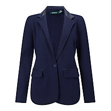 Buy Lauren Ralph Lauren Contrast Trim Blazer, Navy Online at johnlewis.com