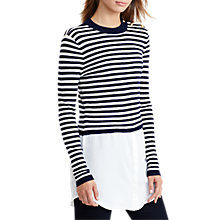 Buy Lauren Ralph Lauren Stripe Crew Neck Jumper, Navy/Antique Ivory Online at johnlewis.com